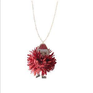 Way to Celebrate Tinsel Santa Necklace